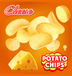 chips cheese advertising package design vector image