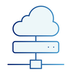 cloud server flat icon computing blue icons in vector image