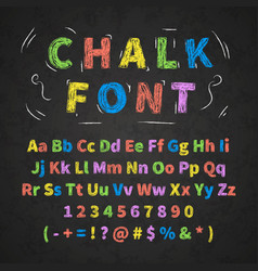 Colorful retro hand drawn alphabet letters drawing vector