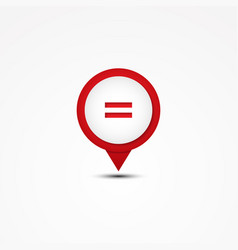Combination equal mathematics symbol vector
