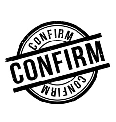 Confirm rubber stamp vector