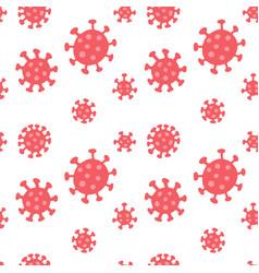 coronavirus seamless pattern repetitive flat vector image