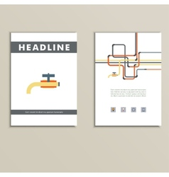Cover book with background of water pipes vector