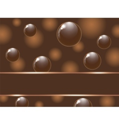Cover chocolate sweets box vector