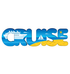 Cruise resort and travel vector