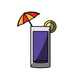 Delicious cocktail isolated vector