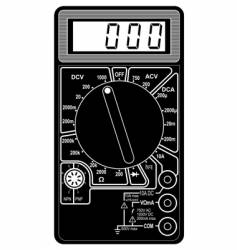 digital multimeter vector image