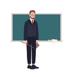 Disappointed school teacher or university vector