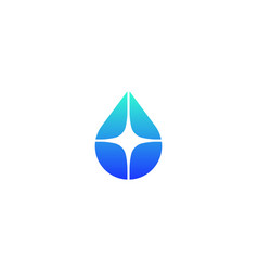 drop water logo aqua oil star creative vector image