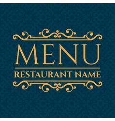 Elegant Restaurant Menu design vector image