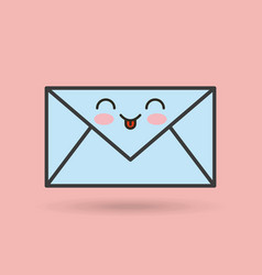 Envelope character kawaii style vector