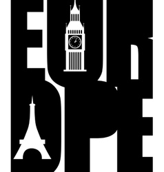 Europe poster vector