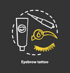 Eyebrow tattoo chalk concept icon eye brows and vector
