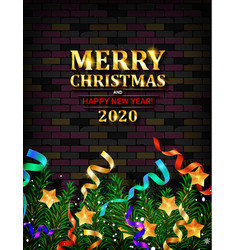festive christmas and new year 2020 vector image