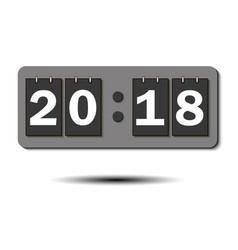 Figures 2018 on the numeric scoreboard vector