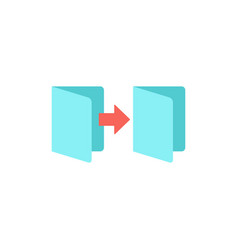folder outline icon vector image