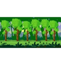 forest game background 2d application vector image