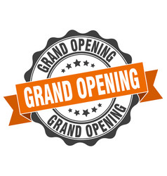 Grand opening stamp sign seal vector