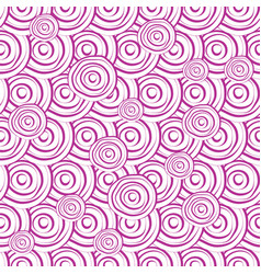 Hand drawn seamless pattern with circles in vector