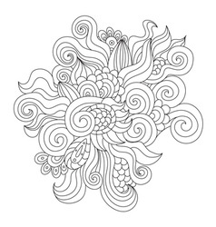 Hand drawn zentangle element vector image