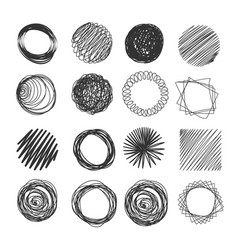 Hand made scribble circle vector