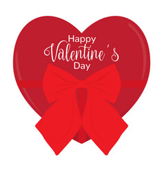 heart shaped present with text valentine day vector image