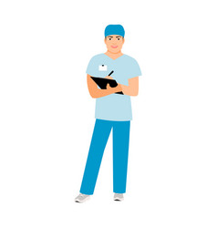 hospital attendant medical specialist vector image