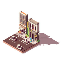isometric street car parking vector image