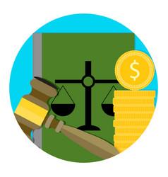 Legal consultation fee icon vector