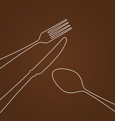 Lines forming Cutlery vector image