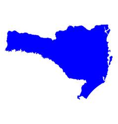 Map of santa catarina vector