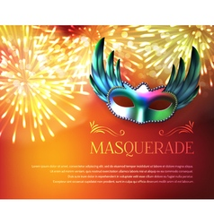 Masquerade fireworks display poster vector