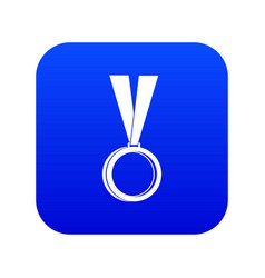 medal icon digital blue vector image