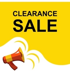 Megaphone with CLEARANCE SALE announcement Flat vector image