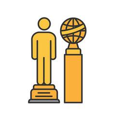 movie awards color icon vector image