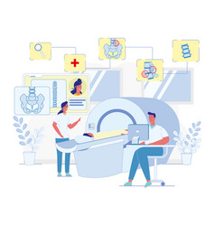 Mri scanning for spine diseases diagnostics vector