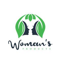 natural female beauty logo vector image