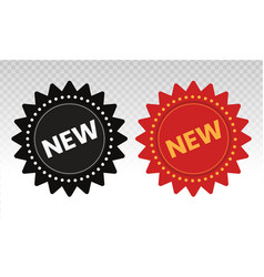 New feature or product badge flat icons for apps vector