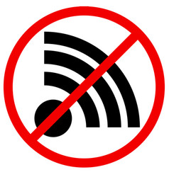 No signal no connection sign vector