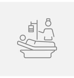 Nursing care line icon vector image