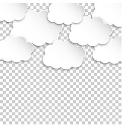paper clouds artoon paper cloud on isolated vector image