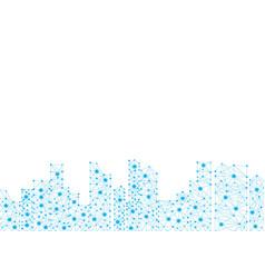 polygon city vector image