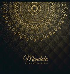 Premium background with golden mandala decoration vector
