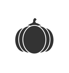 pumpkin black icon vector image