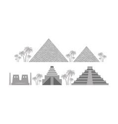 Pyramids and temples ancient egypt babylon maya vector