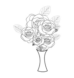 roses flower icon image vector image