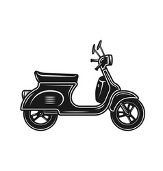 scooter or moped object isolated on white vector image
