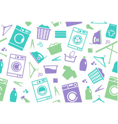 seamless background of a laundry vector image