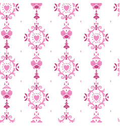 Seamless girlish pattern with rococo style curls vector