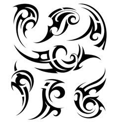 Set of tribal tattoo shapes vector